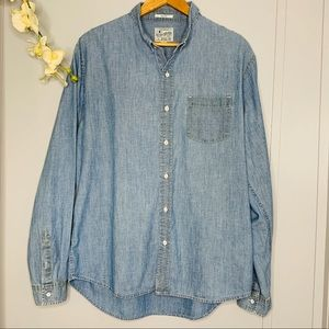 Lucky Brand Chambray Slim Fit Large